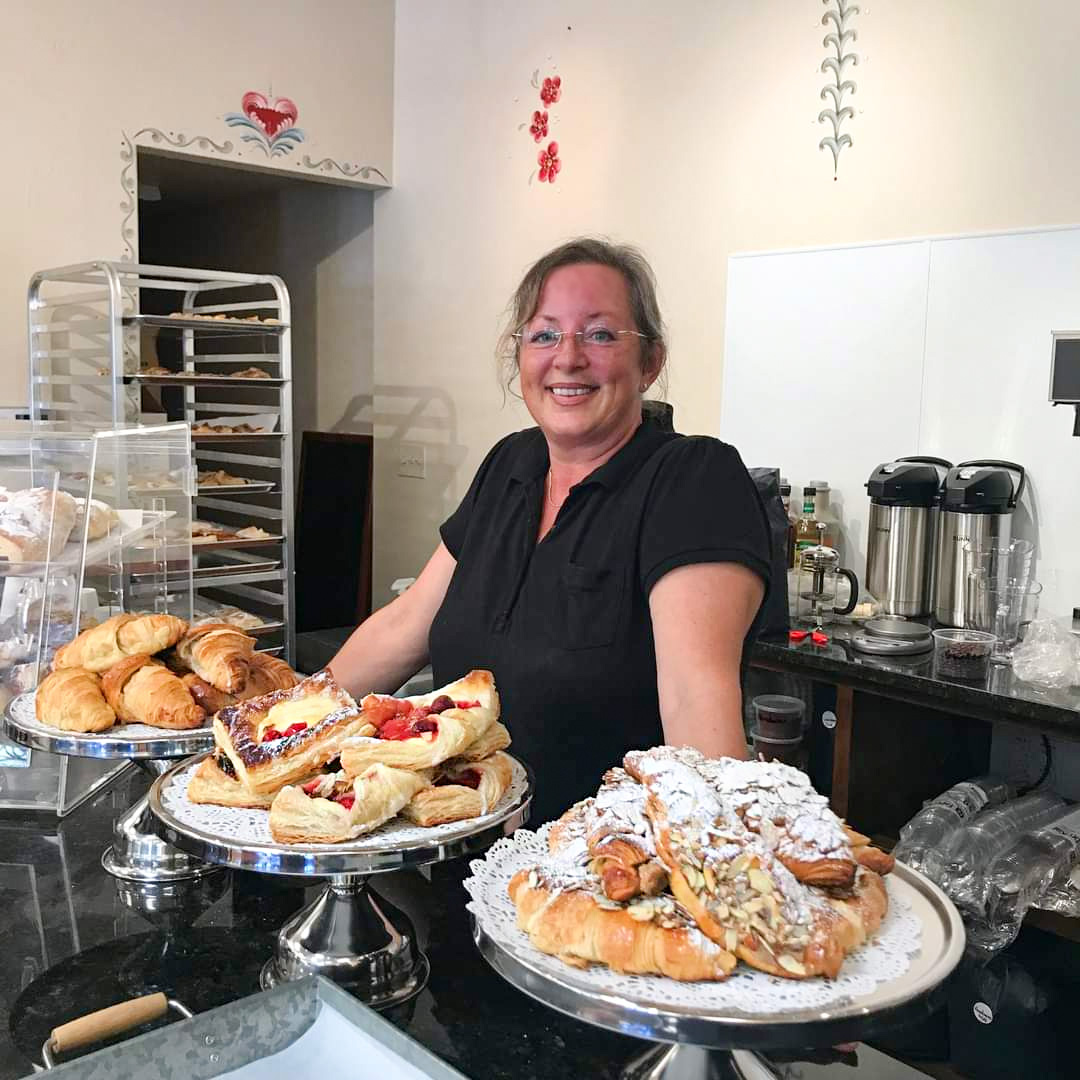 Susan Fiebig with Pastries